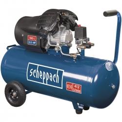 HC 120 dc Scheppach dvojvalcový olejový kompresor s max. tlakom 10 barov a so vzdušníkom 100 l