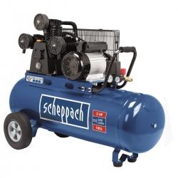 HC 550 tc Scheppach trojvalcový olejový kompresor s max. tlakom 10 barov a so vzdušníkom 100 l