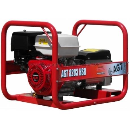 8203 HSB AGT trojfázová elektrocentrála s motorom Honda