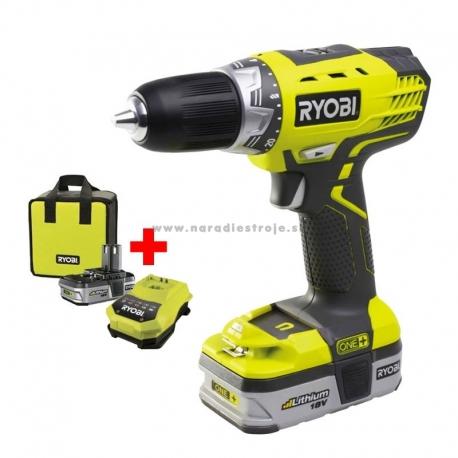 RCD18022L Ryobi 18V 2-rýchlostný vŕtací skrutkovač (s 2 aku 1,4 Ah a nabíjačkou)