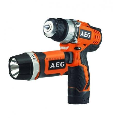 BS 12C SADA AEG ultra kompaktný vŕtací skrutkovač + svietidlo
