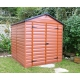 Skylight Palram 6´× 8´(238 × 187 cm) záhradný domček z polykarbonátu hnedý