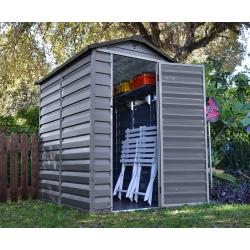 Skylight Palram 4´× 6´(186 × 123 cm) záhradný domček z polykarbonátu sivý