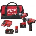 M18 CPP2B-522B Milwaukee FUEL™ sada akumulátorových skrutkovačov
