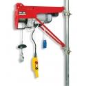 HE 200 TEA elektrický stavebný vrátok + rameno a úchyty na lešenie, lano 35m