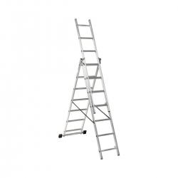 3x7 Higher univerzálny výsuvný hliníkový rebrík
