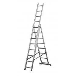 3x10 Higher univerzálny výsuvný hliníkový rebrík