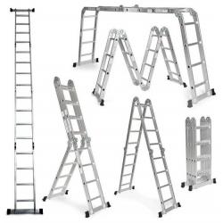 4 x 4 Higher kĺbový hliníkový rebrík +  pracovná plošina