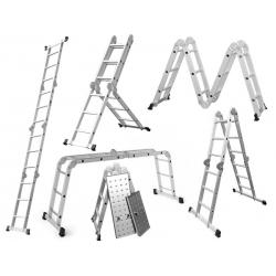 4 x 3 Higher kĺbový hliníkový rebrík + pracovná plošina