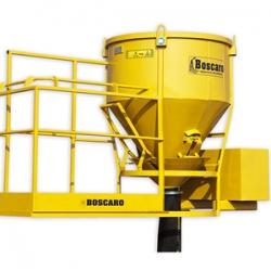 CT-50P Boscaro bádia s gumovým sklzom a pracovnou plošinou, otváranie pákou